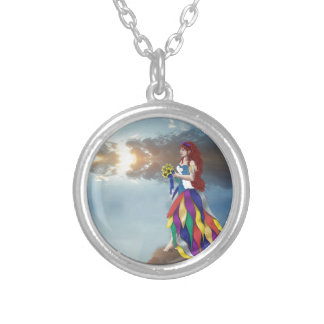 Walk on the clouds silver plated necklace