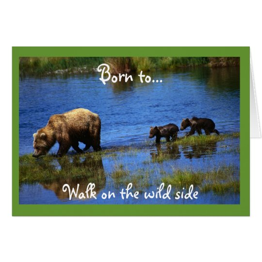 Walk on the Wild Side - Bears Card