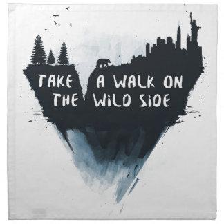 Walk on the wild side napkin