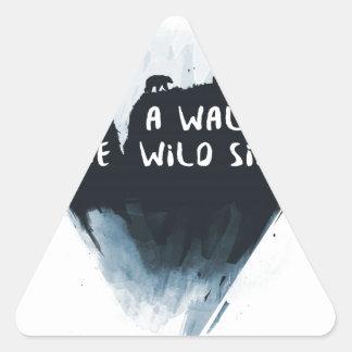 Walk on the wild side triangle sticker