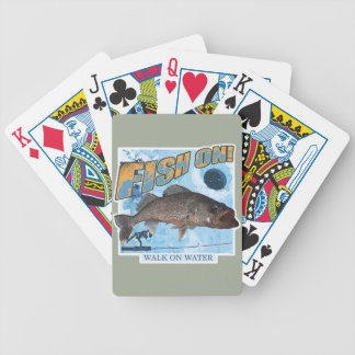 Walk on water walleye bicycle playing cards