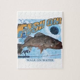 Walk on water walleye jigsaw puzzle