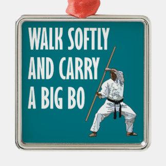 Walk Softly Bo Metal Ornament