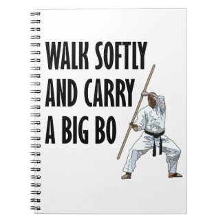 Walk Softly Bo Spiral Notebook