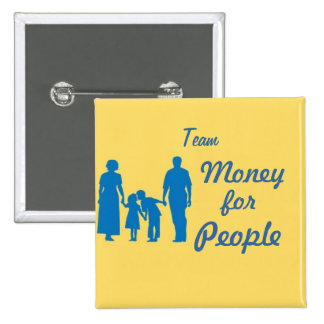 walk, Team, Money, for, People 15 Cm Square Badge