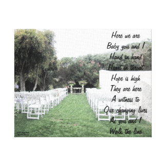 Walk the line canvas print