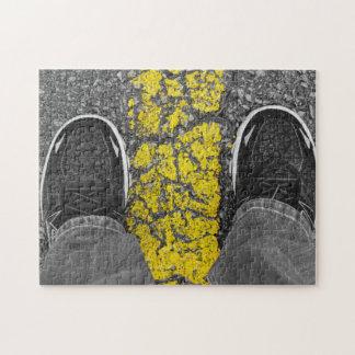 Walk The Line Jigsaw Puzzle