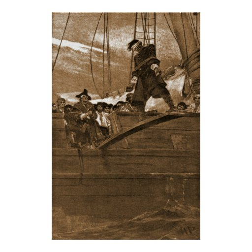 Walk the Plank 1887 Print