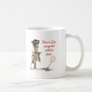 Walk the Plank Badminton Basic White Mug