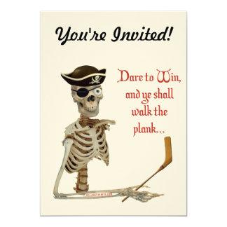 "Walk The Plank Hockey 5"" X 7"" Invitation Card"