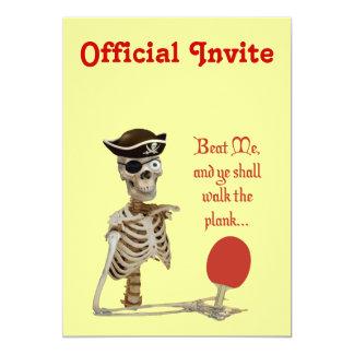 "Walk the Plank Ping Pong 5"" X 7"" Invitation Card"