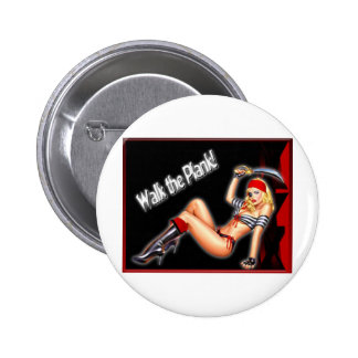 Walk the Plank - Pirate Girl Buttons