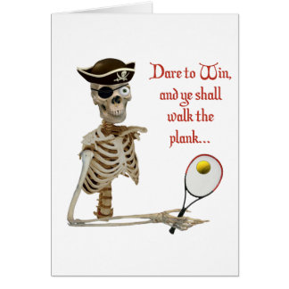 Walk the Plank Pirate Tennis Note Card