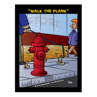 """Walk The Plank"" Postcard"