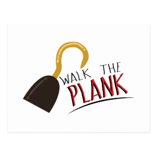 Walk The Plank Postcard