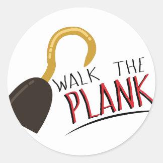 Walk The Plank Round Sticker