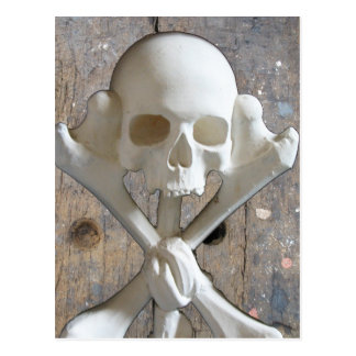 Walk The Plank Skull & CrossBones Pirate Postcard