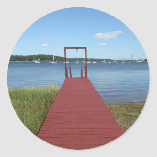 Walk the planks of NH Round Sticker