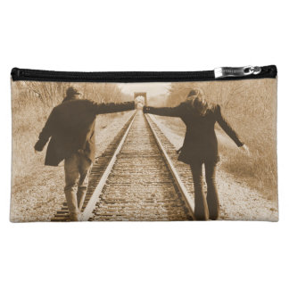 Walk the Rails Together - Hand Bag Cosmetic Bag