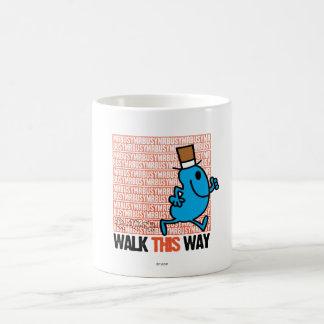 Walk This Way Basic White Mug