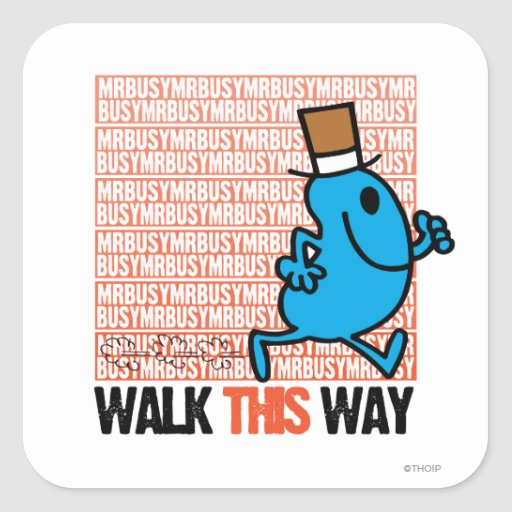 Walk This Way Stickers