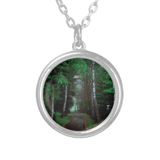 Walk Through The Forest Silver Plated Necklace