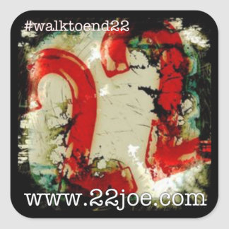 Walk to end 22 stickers