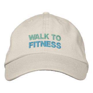 WALK TO FITNESS cap Embroidered Baseball Cap