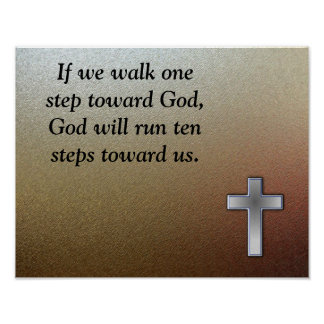Walk toward God Poster
