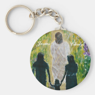 Walk With Christ Button Key Chain
