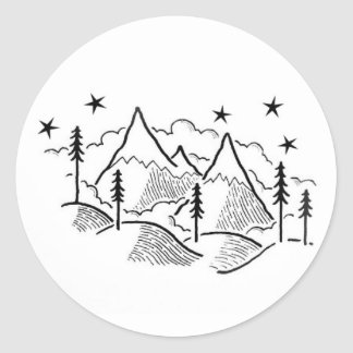 walk with level round sticker