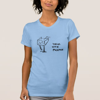 walk with purpose in light blue T-Shirt