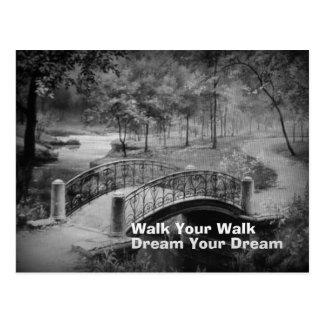 Walk your Walk Scenic Postcard