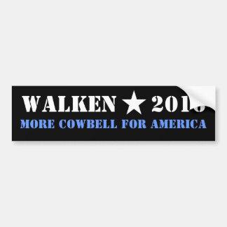WALKEN 2016 MORE COWBELL BUMPER STICKER