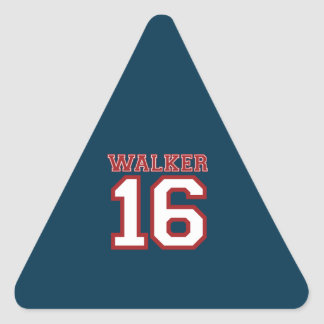 Walker 16 Campaign Jersey Triangle Stickers