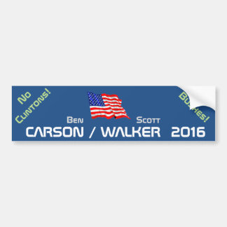WALKER 2016 - no clintons no bushes Bumper Sticker