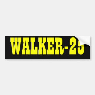 WALKER-25 Bumper Sticker