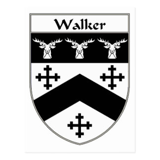 Walker Coat of Arms/Family Crest Postcard