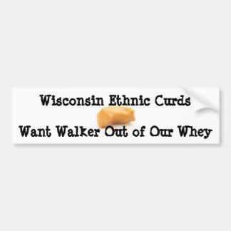 Walker Curds & Whey Bumper Sticker