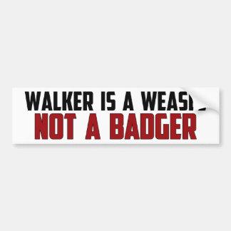 Walker Is A Weasel Bumper Sticker