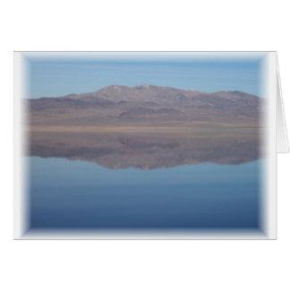 Walker Lake Mirror Image Greeting Card