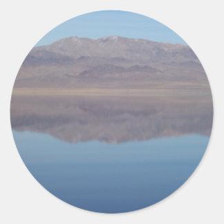 Walker Lake Mirror Image Round Sticker