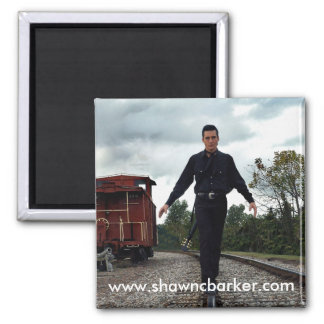 Walkin' The Rails Magnent Square Magnet
