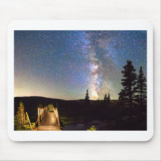 Walking Bridge to The Milky Way Mouse Pad