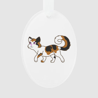 Walking Calico Cat Ornament