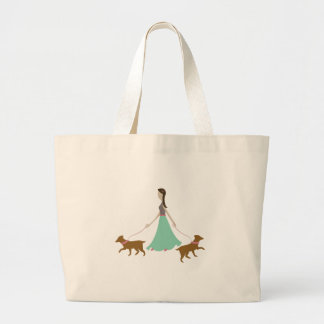 Walking Dogs Canvas Bags