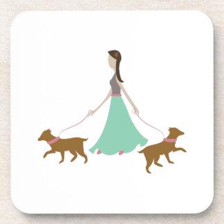 Walking Dogs Drink Coasters