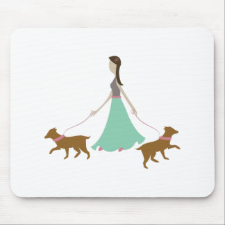 Walking Dogs Mouse Pad