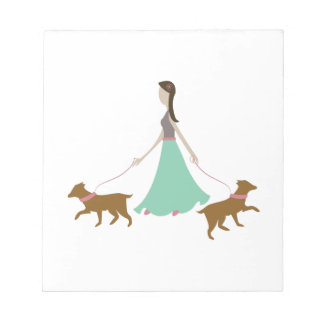 Walking Dogs Notepad