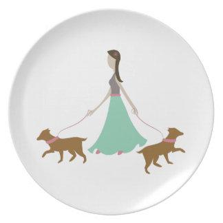 Walking Dogs Dinner Plates